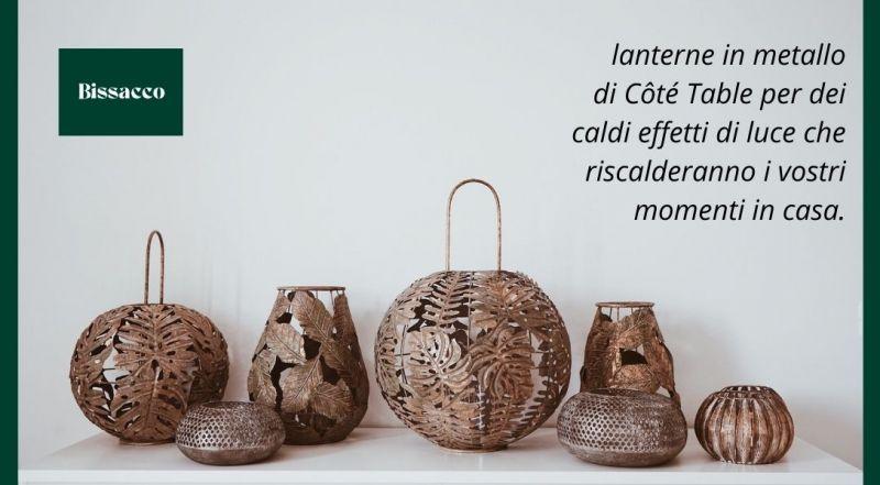 Vendita lanterne Côté Table lanterne in rame e vetro a Treviso – Offerta decorazioni autunnali a Treviso
