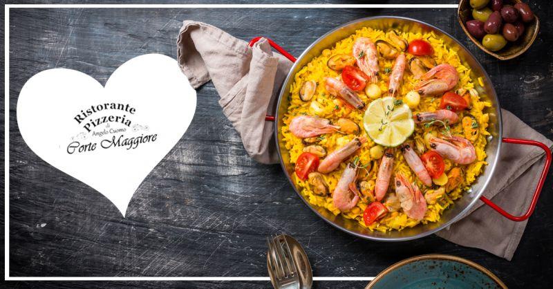 RISTORANTE  PIZZERIA  CORTEMAGGIORE Offerta vendita paella per 2 persone Montebelluna