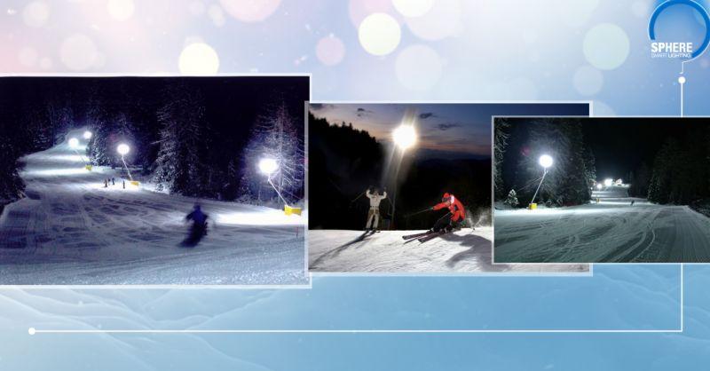 Offerta servizio realizzazione sfere luminose per piste sciistiche serie Snow - Sphere srl