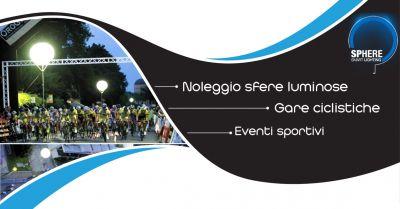 offerta servizi di illuminazione sfere luminose eventi sportivi per ciclisti villorba sphere
