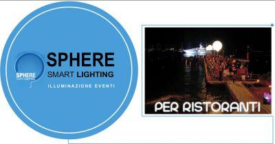 offerta servizio vendita sfere luminose per ristoranti villorba sphere srl