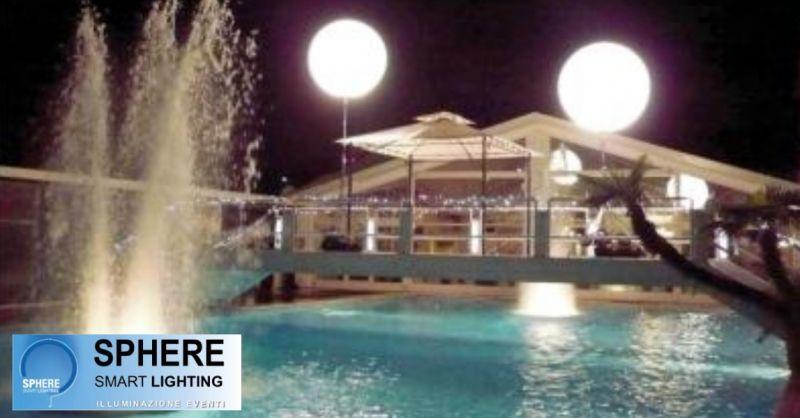Sphere offerta sfere luminose per feste - occasione noleggio palloni luminosi per eventi