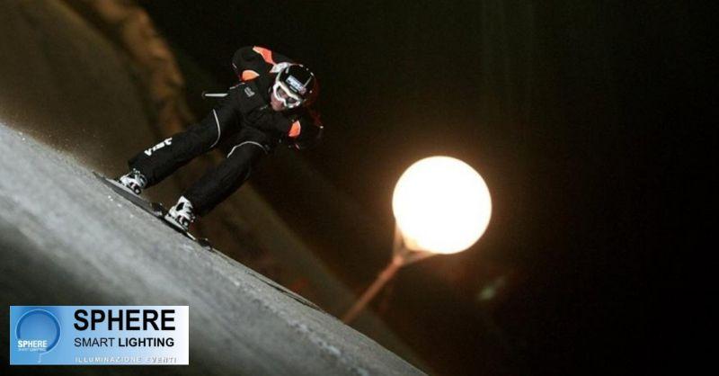 Sphere offerta modelli snow palloni illuminati - occasione noleggio sfere luminose villorba