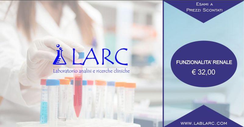 Laboratorio Analisi e Ricerche Cliniche - offerta esami del sangue per funzionalita renale