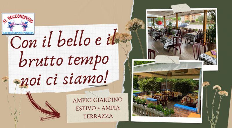 Occasione ristorante e pizzeria a Pordenone con ampio giardino – offerta ristorante e pizzeria con spazio all'aperto in caso di pioggia a Pordenone