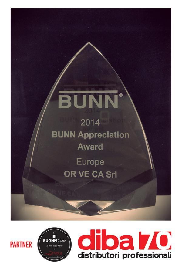 Bunn-o-Matic America premia Orveca, partner Diba 70 Hotellerie Restaurant per il caffè filtro
