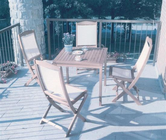 set tavolo itaca con 4 sedie in legno