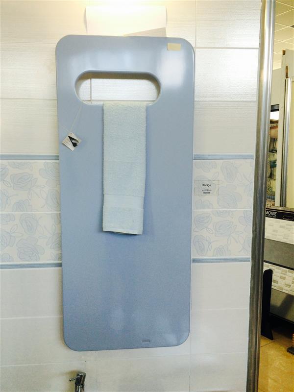 radiatore design azzurro 121x51