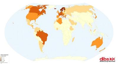 la mappa mondiale di chi consuma pi 249 caff 232 diba 70 distributori professionali rassegna stampa