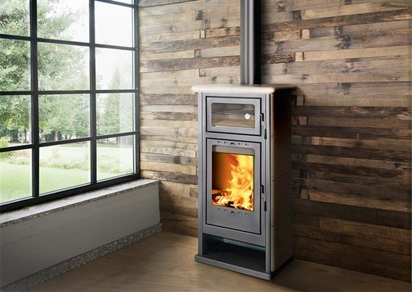 Stufa a legna con forno a brescia sihappy - Stufe a pellet con termosifoni ...